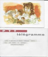DEBUT ANNEES 60 - TELEGRAMME ILLUSTRE De NAISSANCE Avec ENVELOPPE SPECIALE Des PTT De ALGER => BOULOGNE - Covers & Documents