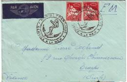 GUERRE DE 40 Timbre Algerie Obl Cachet MARINE FRANCAISE Avec ANCRE Sur Lettre 2eme Escadre De SOUS MARINS !! - Marcophilie (Lettres)