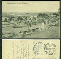 """EUVEZIN ( Meurthe-et-Moselle ) 1915 """" Les Tombes De Heros """" Feldpost Allemagne > Köln Sülz - Frankrijk"""
