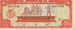 HAITI  5 GOURDES 1989 P-255 - Haiti