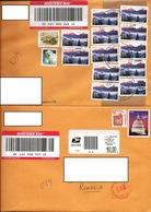 USA 2011 & 2013, Registered Mail, Two Envelopes USA To Romania - Storia Postale