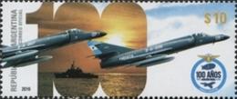 Argentine Argentina 3102 Avion De Chasse, Armée De L'air, Marine - Militares