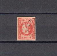 Roumanie 1868 Yvert 18 B Rose Oblitéré. Prince Charles. (2064t) - 1858-1880 Moldavia & Principality