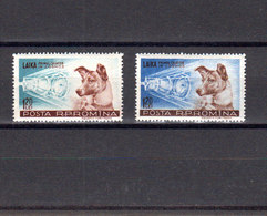 Roumanie 1957 Yvert 1550 / 1551 ** Neufs Sans Charniere. Chienne Laika Passagere S. II. (2066t) - 1948-.... Republics