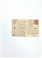 CARTE POSTALE TIMBRE N° 147 DEPART CHALLES LES EAUX (SAVOIE)  Pour SAINT JEAN DE NIORT (AIN) 31 07 1915 - Poststempel (Briefe)