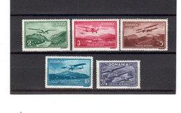 Roumanie 1931 Poste Aerienne Yvert 14 / 18 ** TB Neufs Sans Charniere. (2068t) - Nuevos