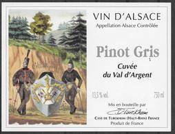 ALSACE - Pinot Gris - Cuvée Du Val D'Argent - Cave Vinicole Turckheim (état Neuf) - Antiche Uniformi