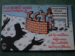 A LA CECURITE SOCIALE Comme à L'entreprise, La CGT.......(illustration De Jean EFFEL) - Satiriques