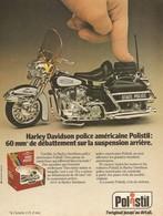 COUPURE De PRESSE PUB - PUBLICITÉ MOTO 1/15 ème POLISTIL MOTO HARLEY DAVIDSON POLICE AMÉRICAINE - STATE POLICE - Motorcycles