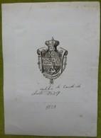 Ex-libris Héraldique - ESPAGNE - CONDE DE CHESTE - 1829 - Ex-libris