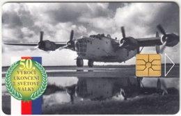 CZECH REP. C-971 Chip Telecom - Anniversary, 2nd World War - Used - Czech Republic