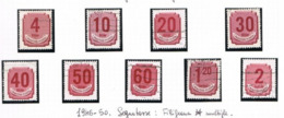 UNGHERIA (HUNGARY)  -  SG  D984.992    -  1946  POSTAGE DUE (COMPLET SET OF 9)  - USED° -  RIF.CP - Segnatasse