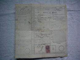 Certificat Origine étalon 1940 à Rodez - Vieux Papiers