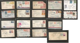 DOMINICAN REP. 1927-1950. Registered Mail Selection Of 17 Better Usages / Multiples / Town Cancels. Includes A Diplomati - Dominican Republic