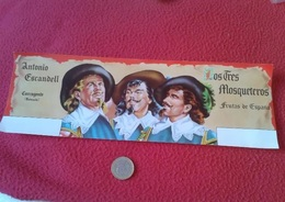SPAIN LABEL ETIQUETA LOS TRES MOSQUETEROS FRUTAS DE ESPAÑA ANTONIO ESCANDELL CARCAGENTE The Three Musketeers FRUITS..VER - Frutas Y Legumbres