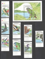 F039 1990 DOMINICA FAUNA BIRDS #1328-37 MICHEL 1SET+1BL MNH - Oiseaux