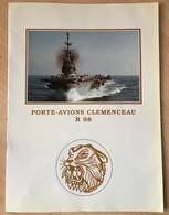 Livret Accueil Pochette Porte-avions Clemenceau Marine Nationale - Bateaux
