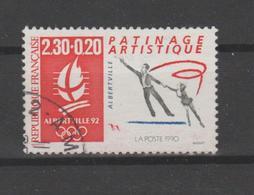 "FRANCE / 1990 / Y&T N° 2633 : ""JO Albertville"" (Patinage Artistique) De Feuille - Choisi - Cachet Rond - France"