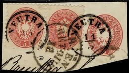 """Ausg. 1864, Selt. Stp. """" Von WIEN - RETOUR """"  , A2928 - 1850-1918 Imperium"""