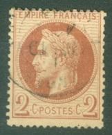 France  26  Ob    TB - 1863-1870 Napoléon III Lauré
