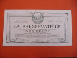 La Préservatrice Accidents ( Grands Prix 1900 Paris - 1919 Strasbourg - Bank En Verzekering