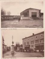2 CPA:VILLARS (01) HÔTEL DE LA TOUR PLACE DU NORD,FOYER MUNICIPAL - Francia