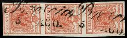 (1850) Lomb. Ven. , 3er Streifen , Ank. € 180.-   , A2930 - 1850-1918 Imperium