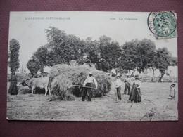CPA 12 Série L'AVEYRON PITTORESQUE La Fenaison ANIMEE METIERS CAMPAGNE Attelage De Boeufs 1907 - France