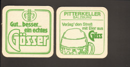 "Bierdeckel Gösser R: ""Pitterkeller Salzburg..."" - Portavasos"