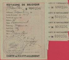 Bouillon - Carte De Ravitaillement , Avril 1947, De Toussaint Maurice ( Voir Verso ) - Bouillon