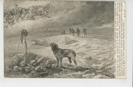 """GUERRE 1914-18 - DOG - Jolie Carte Fantaisie Chien  """"FIDELE JUSQU'A LA MORT """" - Edit. LAPINA - Guerre 1914-18"""