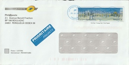 FRANCE 2008 La Poste Envelope/Nancy: CANCELLED - Postwaardestukken