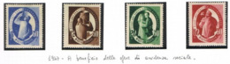 UNGHERIA (HUNGARY)  -  SG  1005.1008   -  1947  WELFARE ORGANIZATION     (COMPLET SET OF 4) -  MINT** -  RIF.CP - Hungary