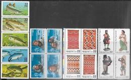 US  1986 Sc#2209a Fish Strip, #2223a Arctic Block, #2238a Navajo Rugs Block, 2243a Art Block MNH  2016 Scott Value $13 - United States