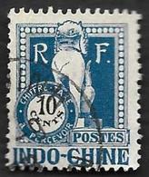 INDOCHINE  1922 - Taxe 39   - Oblitéré - Strafport