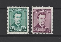 YOUGOSLAVIE.  YT  N° 453/454  Neuf *  1946 - Neufs