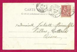 Écrit Postal Daté De 1901 - Voyagé D'Acy En Multien Dans L'Oise à Destination De Villers Cotterêts Dans L'Aisne - Marcophilie (Lettres)