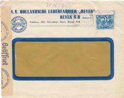 Nederland - 1942 - 12,5 Cent Tralieopdruk Op Censored Business Cover Van Breda - Lettres & Documents