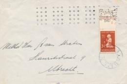 Nederland - 1940 - 7,5 Cent Kind Met Bloem - Met Plaatnummer 2 - Op Cover Van Rotterdam Naar Utrecht - Posterijen - Lettres & Documents