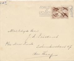 Nederland - 1935 - 6 Cent Luchtvaartfonds Op Cover Van Maastricht Naar Den Haag - Period 1891-1948 (Wilhelmina)