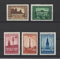YOUGOSLAVIE.  YT  N° 455/459  Neuf *  1946 - Neufs