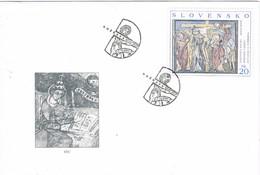 35526. Carta F.D.C. ROZNAVA (Slovensko) 2000. Pasion De Cristo En La Cruz - FDC