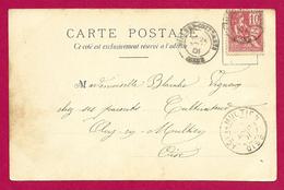 Écrit Postal Daté De 1901 - Voyagé De Villers Cotterêts Dans L'Aisne Vers Acy En Multien Dans L'Oise - Marcophilie (Lettres)