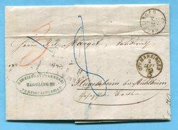 Faltbrief Von Hägglingen Nach Hügelsheim 1862 - Suiza