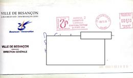 Lettre Flamme Ema Besançon Esposition Histoire Postale - Affrancature Meccaniche Rosse (EMA)