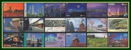 18 Télécartes Architecture Moderne Villes Japon TB - Phonecards