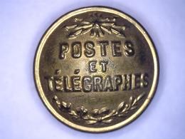 """BOUTON """" POSTES ET TÉLÉGRAPHES """" - T. W & W - PARIS Diamètre 20 - Boutons"""