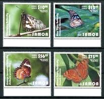 Samoa MiNr. 1255-58 Postfrisch MNH Schmetterlinge (Schm340 - Samoa (Staat)