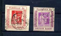 PAIX 281 Et 283 Porte Timbre Flanelle Du Docteur Albert N° 1020 Yvert (livret De L'expert 2010) - 1932-39 Paz