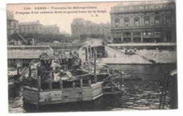 CARTOLINA PUBBLICITARIA Paris Travaux Du Mtreopolitain Dans Le Grand Bras De La Seine - Pubblicitari